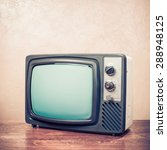 retro old television from 70s... | Shutterstock . vector #288948125