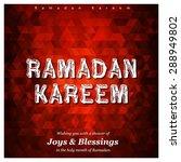 ramazan kareem  ramadan kareem  ... | Shutterstock .eps vector #288949802