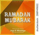 ramazan kareem  ramadan kareem  ... | Shutterstock .eps vector #288949832