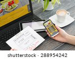 designer's desk with responsive ... | Shutterstock . vector #288954242