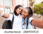 happy african college friends... | Shutterstock . vector #288954515