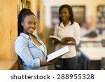 pretty female african uni... | Shutterstock . vector #288955328