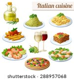 set of food icons isolated on... | Shutterstock .eps vector #288957068