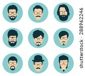 set of hipster avatars for... | Shutterstock .eps vector #288962246