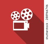 movie flat design modern icon... | Shutterstock . vector #288966746