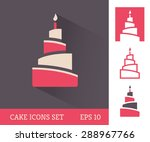 colored cake icon with long...