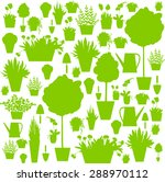 houseplants.watering can  ... | Shutterstock .eps vector #288970112