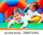 happy kids having fun on... | Shutterstock . vector #288971942