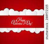 happy valentines day card with... | Shutterstock . vector #288972155