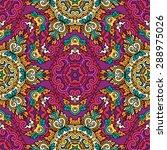 seamless pattern ethnic style.... | Shutterstock .eps vector #288975026