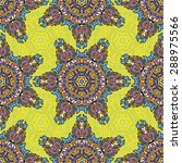 seamless pattern ethnic style.... | Shutterstock .eps vector #288975566