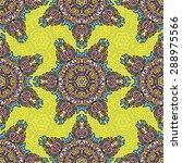 seamless pattern ethnic style.... | Shutterstock .eps vector #288975566