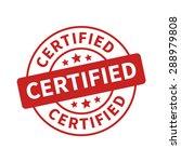 certified stamp  label  sticker ... | Shutterstock .eps vector #288979808