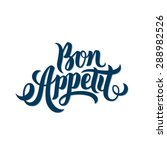 bon appetit hand lettering....