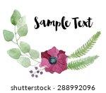 Watercolor Floral Composition...