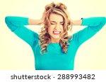 sad and depressed woman deep in ... | Shutterstock . vector #288993482