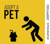 adopt a pet illustration over... | Shutterstock .eps vector #288997682