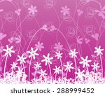 beautiful white flowers on... | Shutterstock .eps vector #288999452
