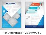 vector brochure flyer design... | Shutterstock .eps vector #288999752