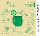 hardcore greens  green juice...   Shutterstock .eps vector #289002296