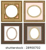 a picture gold frame on a white | Shutterstock . vector #28900702