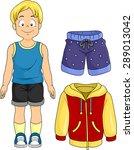 Illustration Of A Little Boy...