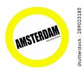 Amsterdam Black Stamp Text On...