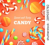 sweets background with... | Shutterstock .eps vector #289035782