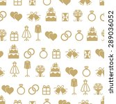 wedding themed vector seamless... | Shutterstock .eps vector #289036052