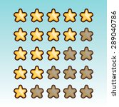 rating stars set. user feedback ...