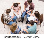 group therapy. group of people... | Shutterstock . vector #289042592