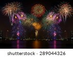 beautiful colorful fireworks... | Shutterstock . vector #289044326