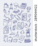 hand drawn school set | Shutterstock .eps vector #289044422