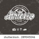 soccer club emblem in retro... | Shutterstock .eps vector #289045046