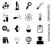 science icons set illustration | Shutterstock .eps vector #289049252