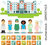 medicine concept with people ... | Shutterstock .eps vector #289057415