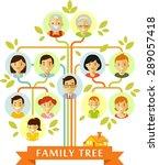 family tree generation people... | Shutterstock .eps vector #289057418