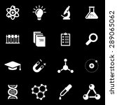 vector white science icon set.  | Shutterstock .eps vector #289065062