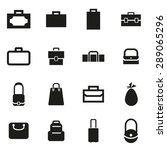 vector black bag icon set. | Shutterstock .eps vector #289065296