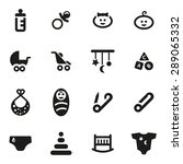 vector black baby icon set.   Shutterstock .eps vector #289065332