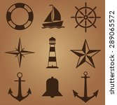 nautical icons | Shutterstock .eps vector #289065572