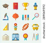 illustration school colorful... | Shutterstock .eps vector #289069592