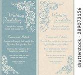 wedding invitation in pastel... | Shutterstock .eps vector #289073156