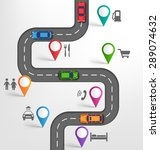 road infographic travel... | Shutterstock .eps vector #289074632