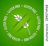 white gluten free sign on green ... | Shutterstock .eps vector #289074968