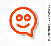 happy smile   face chat speech... | Shutterstock .eps vector #289084982