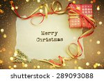 christmas card with space and... | Shutterstock . vector #289093088