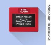 fire alarm break glass | Shutterstock .eps vector #289096802