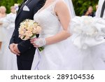 the bride and groom with a... | Shutterstock . vector #289104536