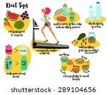 diet tips   recommending cardio ... | Shutterstock .eps vector #289104656